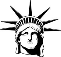 Statue Of Liberty, Graphics, and Stock Art for Logo Design